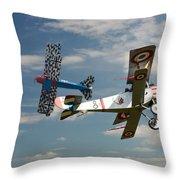 Fighting Colours 2 - Fokker D. Vll - Nieuport Throw Pillow
