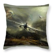 Fighting Falcon Throw Pillow