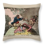 Fighting For The Dunghill Throw Pillow