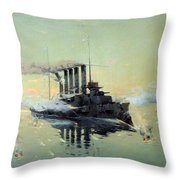 Fighting On July In The Yellow Sea Throw Pillow