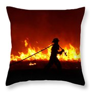 Fighting The Fire Throw Pillow