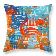 Fights Of Delight Throw Pillow