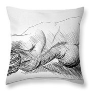 Figure Drawing 2 Throw Pillow