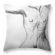 Figure Drawing 5 Throw Pillow