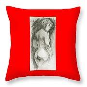 Figure Drawing.2. Throw Pillow