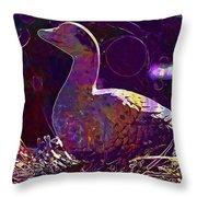 Figure Goose Clay Figure Animal  Throw Pillow