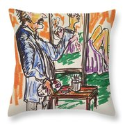 Figure Illustation Class Throw Pillow