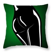 Figure In Green Throw Pillow
