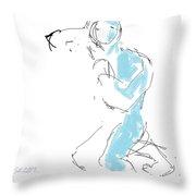 Figure/man Throw Pillow