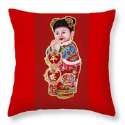 Figure Of Culture Throw Pillow