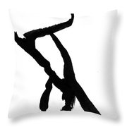 Figure Silhouette Throw Pillow