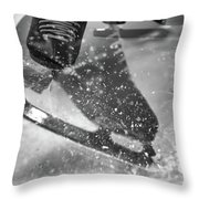 Figure Skating Abstract Throw Pillow
