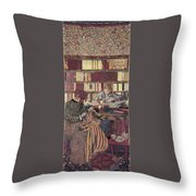 Figures In An Interior Throw Pillow