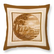 Figures In An Italianate  Throw Pillow