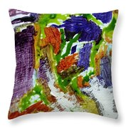 Figures In The City Throw Pillow