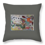 Figures In The Empty Space Throw Pillow