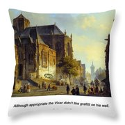 Figures On A Market Square In A Dutch Town 1843 Throw Pillow