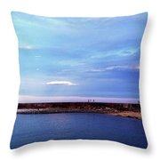 Figures On The Breakwater Throw Pillow
