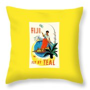 Fiji Fly By Teal Throw Pillow
