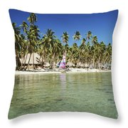 Fiji Resort Throw Pillow