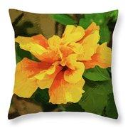 Fijian Hibiscus Abstract In Del Mar 2 Throw Pillow