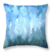 Filed Of Lilies Throw Pillow