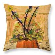 Filled Terra Cotta Vase Throw Pillow