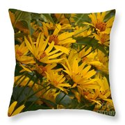 Filled With Sunflowers Vertical Throw Pillow