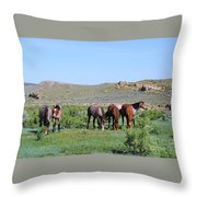 Fillies Day Out Throw Pillow