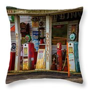 Filling Station Throw Pillow