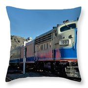 Fillmore And Western Railway Christmas Train 2 Throw Pillow