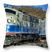 Fillmore And Western Railway Christmas Train 3 Throw Pillow