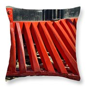 Fillmore And Western Railway Cow Catcher Throw Pillow