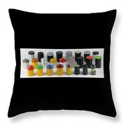 Film Cans Throw Pillow
