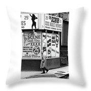 Film Homage Hard Core 1979 Porn Theater The Combat Zone Boston Massachusetts 197 Throw Pillow