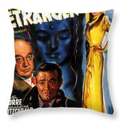Film Noir Poster Three Strangers Throw Pillow