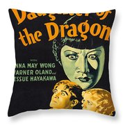 Film Poster For Daughter Of The Dragon Throw Pillow
