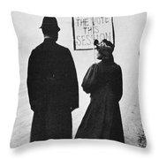 Film Still: Suffragette Throw Pillow