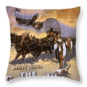 Film: The Covered Wagon Throw Pillow