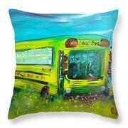 Final Bus Stop  Throw Pillow by Steve Jorde