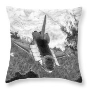 Final Delivery Completed Throw Pillow