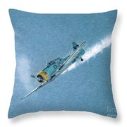 Final Dive World War Two Airplane  Throw Pillow