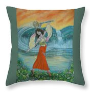Final Fantasy Goddess  Throw Pillow