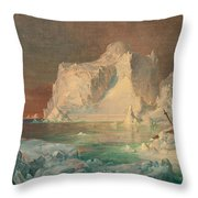 Final Study For The Icebergs Throw Pillow