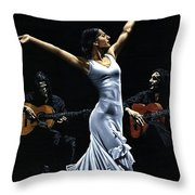 Finale Del Funcionamiento Del Flamenco Throw Pillow