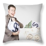 Finance And Money Growth Concept Throw Pillow