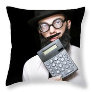 Financial And Accounting Genius With Calculator Throw Pillow