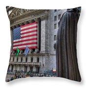 Financial District Throw Pillow