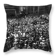 Financial District Showgirls Throw Pillow