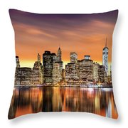 Financial District Sunset Throw Pillow